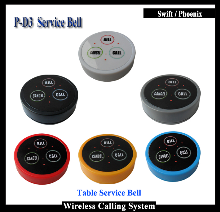5pcs Cafe Restaurant service bell for waiter calling system(China (Mainland))