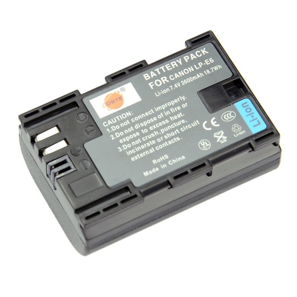 DSTE 2x LP E6 Replacement Battery for Canon EOS 5D Mark II III 5DS 5DS R