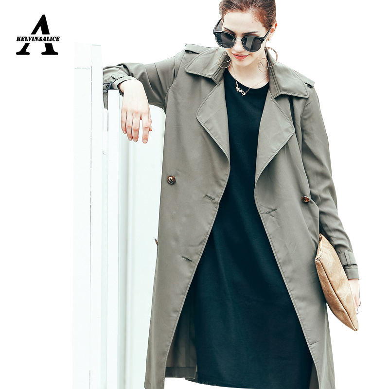 Popular Green Leather Trench Coat Women-Buy Cheap Green Leather ...