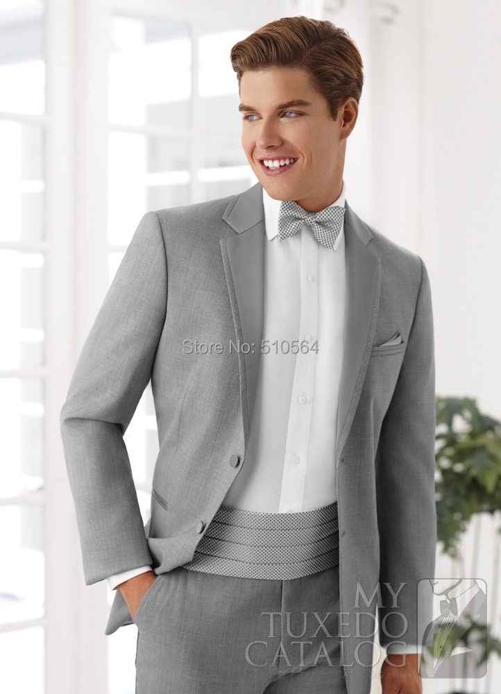 Light Grey Tuxedo Suit Light Grey Suit Jacket