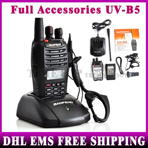50PCS Baofeng UV-B5 Walkie Talkie 5W 99CH UHF+VHF A1011A Dual Band/Frequency /Display Two-way Radio Wholesale Full Parts(China (Mainland))
