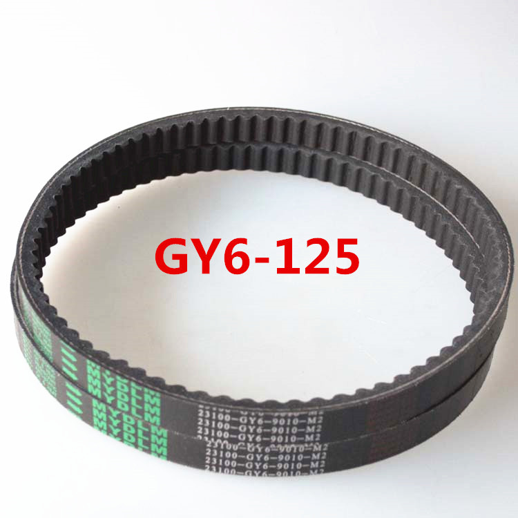 Motorcycle gear belt transmission belt font b GY6 b font 125cc motorcycle stepless speed changing belt