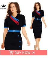 2016 Fashion Designer Women Dress Short Sleeve Mid Calf  Dresses Sexy Sheath Plus Size Dresses Female Casual Sheath Slash Dress