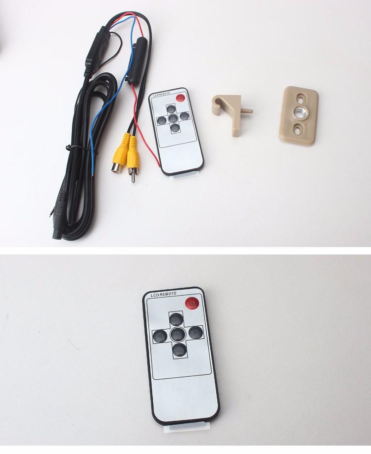 """Купить Влево или Вправо 7 """"AU новая панель/480 (W) X 234 (H) XRGB PAL/NTSC/2 входов видео сигнала/OSD меню управления Автомобиля Вс козырек Монитор"""