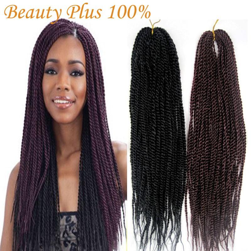 Synthetic Braiding Hair Senegalese Braids 22 Folded Kanekalon Kinky Twist Hair Crochet Braid Hair Extensions<br><br>Aliexpress