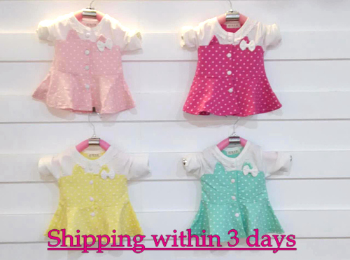 2015 girl autumn dresses brand luxury kids bady girls dress fast shipping cotton popular small dot designer clothes clothing(China (Mainland))