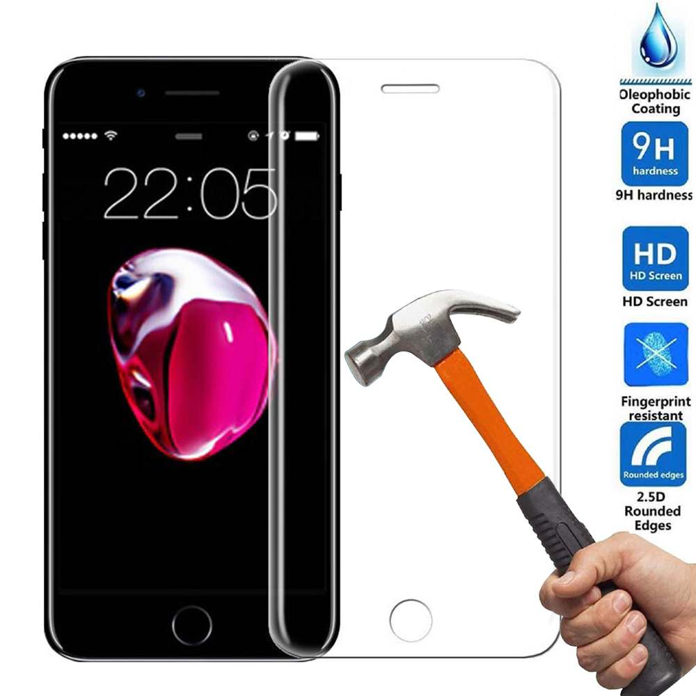 Anti-scratch 9H 4D Curved Edge Full Coverage Tempered Glass Screen Protector Film Cover iPhone 7 Black / White New Hot