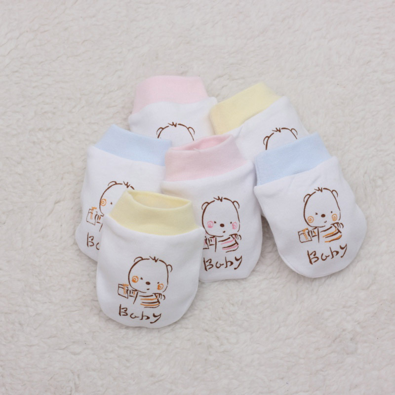 Spring 0-3months 100% cotton baby proof gloves Neonatal gloves comfortable breathe freely baby gloves newborn baby mitten B020(China (Mainland))