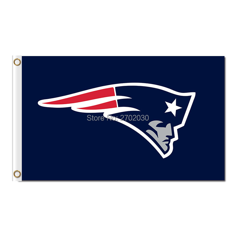 New England Patriots Flag Logo Blue Country Super Bowl Champions 3ftx5ft Banner 100D Polyester Flag Metal Grommets
