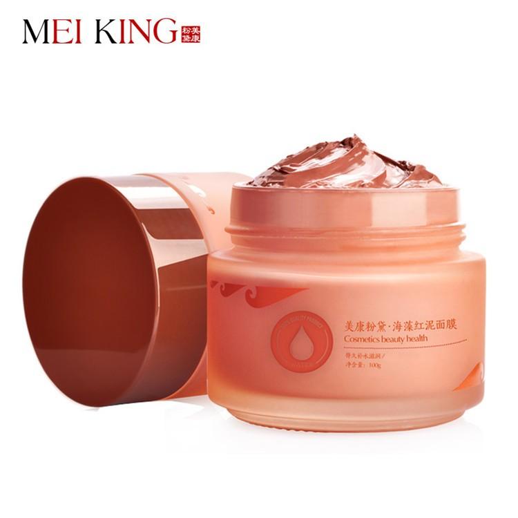 Health Skin Care Seaweed red mud Moisturizing Oil Control Facial Mask 100g Acne Treatment Blackhead Remove
