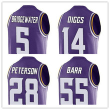 Men's Teddy stefon Adrian Diggs Anthony Peterson Bridgewater Barr 2016 Summer Top T-Shirts!(China (Mainland))