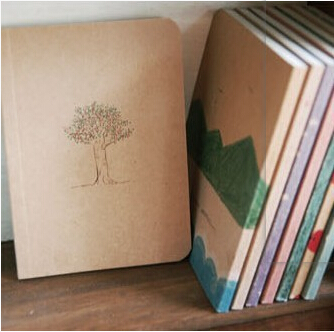 8pcs/lot New vintage style Notebook Paper Notepad Crayon painting pattern pocket notepad solid color WJ0096(China (Mainland))