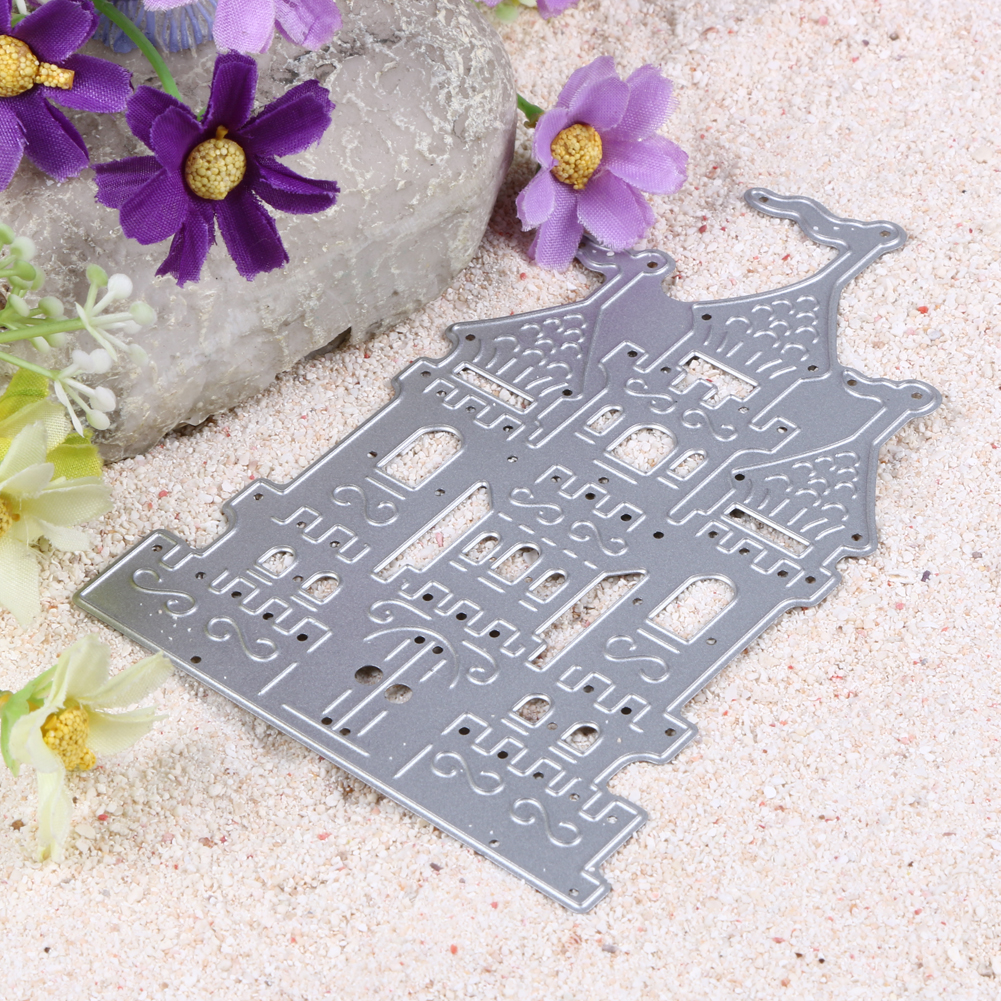 1pc Brand New Castle Design Metal Cutting Dies Stencil for DIY Scrapbooking Embossing Folder Decoration Paper Card Crafts Dies