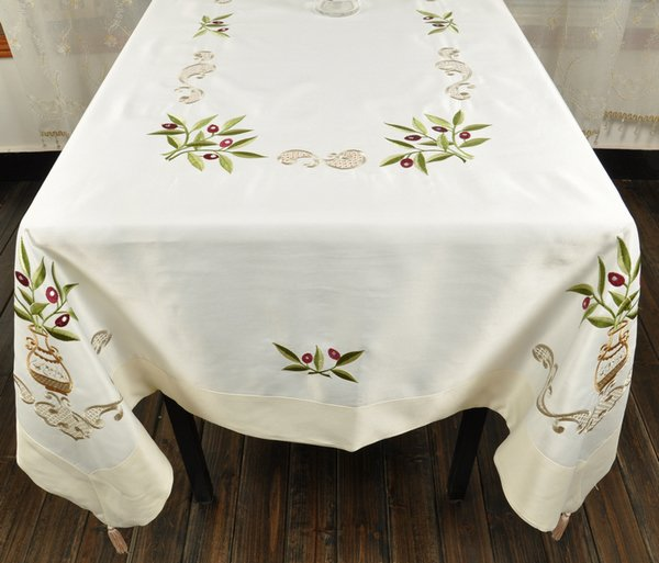 """52X52""""(130x130cm) GREECE Embroidery Olive tablecloth,FREE SHIPPING! 8359A(China (Mainland))"""