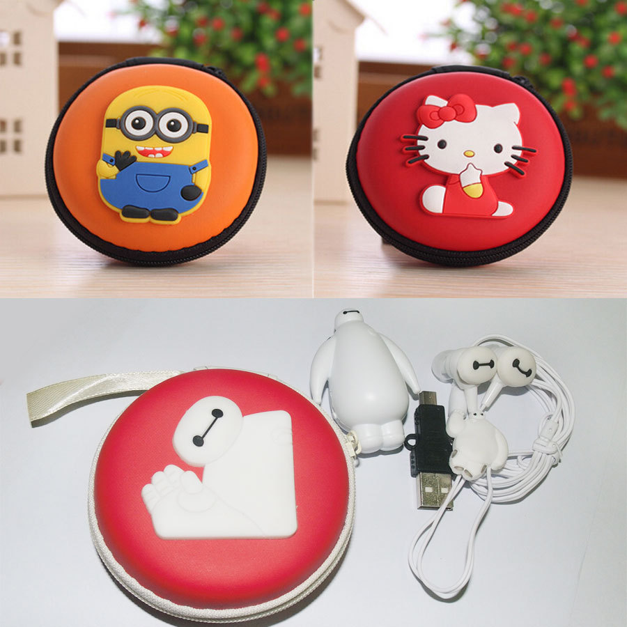 Hello Kitty MP3 Despicable Me Baymax Music Player Clip MP3 Players Support TF Card With Earphone Mini USB and bag(China (Mainland))