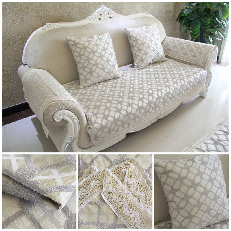 Chenille Flocked Jacquard Sectional Cushions for Sofa  : Chenille Flocked Jacquard Sectional Cushions for Sofa Modern Brief Plaid Sofa Cover Case Home Textile Cloth from www.aliexpress.com size 800 x 800 jpeg 212kB