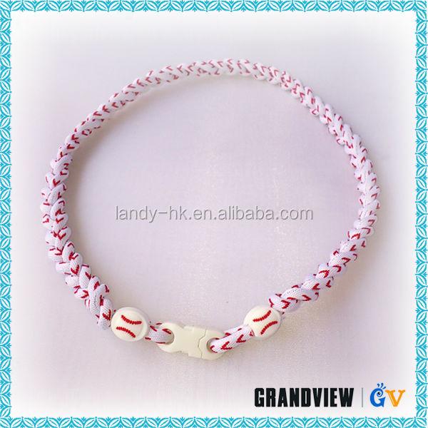China wholesale cheap custom titanium sports necklace,baseball necklace(China (Mainland))