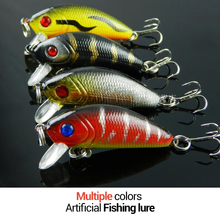 Lifelike 5cm-3.6g isca artificial fishing lure bait 8 color fish lures baits with 6 fishing hooks tackle Russia free shipping