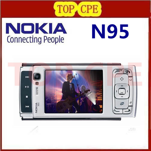 Refurbished Cheap Free Shipping Original Nokia N95 Unlocked Cell Phone with 5MP High Clear Camera Bluetooth GPS(China (Mainland))