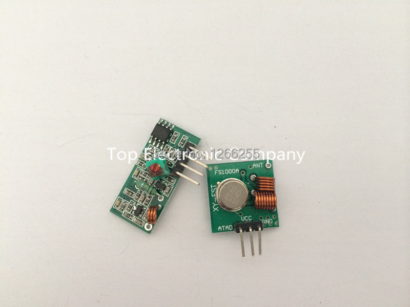 RF wireless receiver module & transmitter module board for arduino super regeneration 315/433MHZ DC5V (ASK /OOK) 5pair =10pcs(China (Mainland))