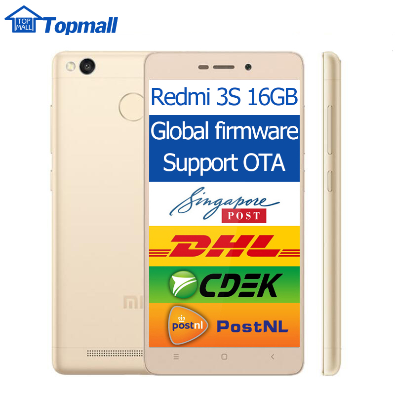 "Original Xiaomi Redmi 3S 2GB RAM 16GB ROM Snapdragon 430 Mobile Phone 4100mAh Battery Fingerprint ID 5.0"" Metal Body(China (Mainland))"