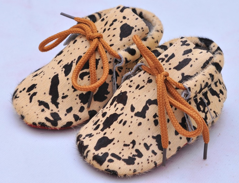 20colors New Genuine Leather Baby Moccasins Shoes lace up leopard red bottom sole Baby Shoes Newborn first walker toddler Shoes(China (Mainland))