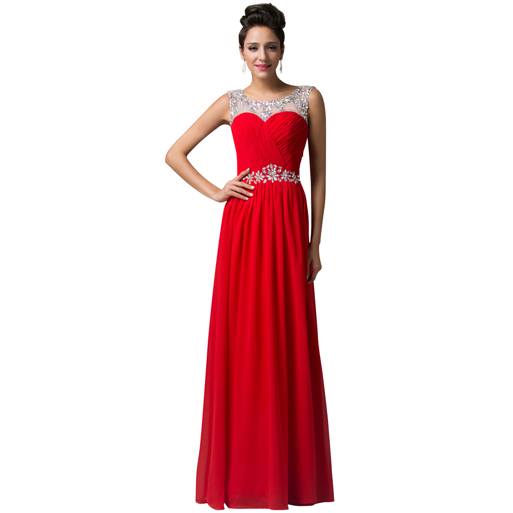 Brilliant  Dresses  Elegant 34 Sleeve Lace Womens Long Red Evening Dress