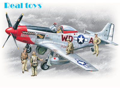 ICM model 48153 1/48 P-51D with USAAF Pilots and Ground Personnel plastic model kit(China (Mainland))
