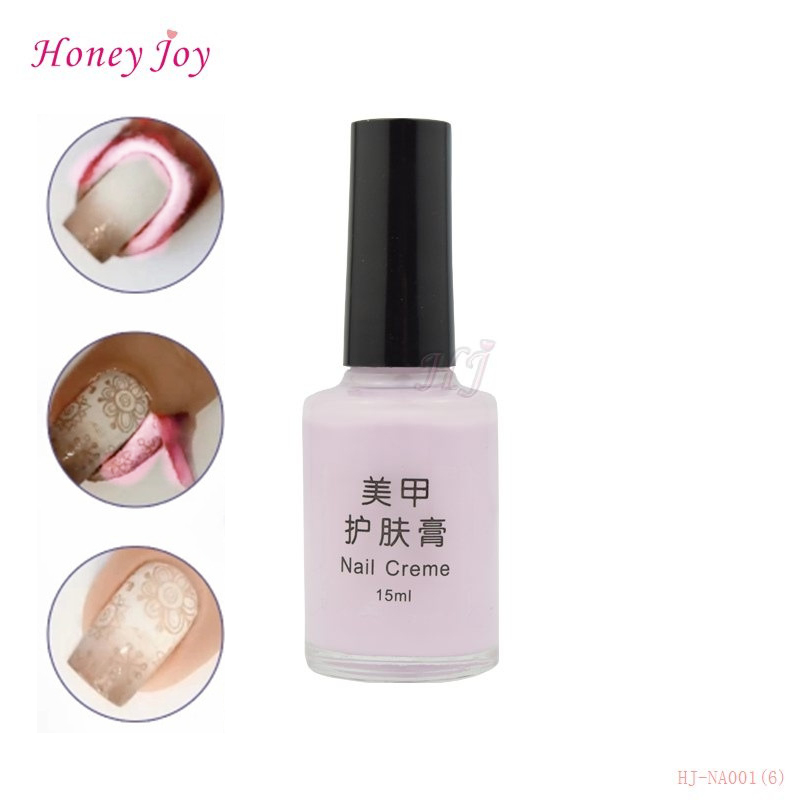 15ml Peel Off Liquid Tape Nail Art Latex Tape White Pink Protected Palisade Nail Easie Nails Polish Finger Skin Care Base Coat(China (Mainland))