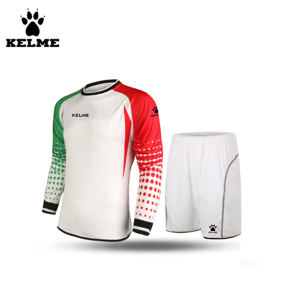 KELME Men Football Keepers Kleding Goleiro Uniforme Goalkeeper Football Uniform Customize Football Sets Voetbal Keeper Tenue 28(China (Mainland))