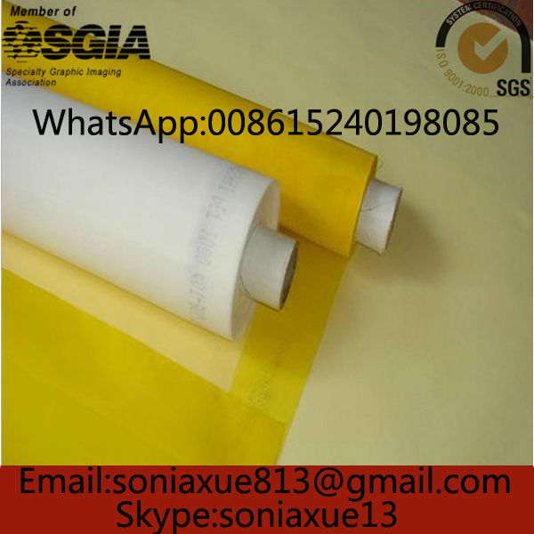 Faste Delivery!110T/280Mesh-40um127cm Yellow Polyester Screen Mesh(China (Mainland))