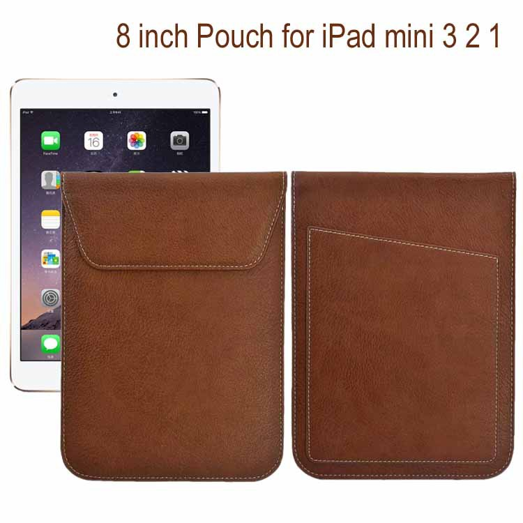 8 inch universal luxury leather case bag tablet pouch sleeve for Apple iPad mini 3 2 1 for samsung tab 3 8.0 tab 4 8.0 Russian(China (Mainland))