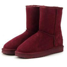 MBR FORC คลาสสิกของแท้ cowhide หนังหิมะรองเท้าผ้าขนสัตว์ผู้หญิงรองเท้าอุ่นฤดูหนาวรองเท้าผู้หญิงขน...(China)