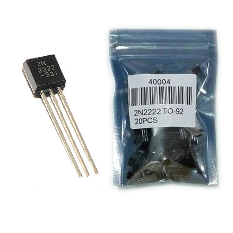 80048 2N2222A Free shipping 100pcs in line triode transistor NPN switching transistors TO 92 0 6A