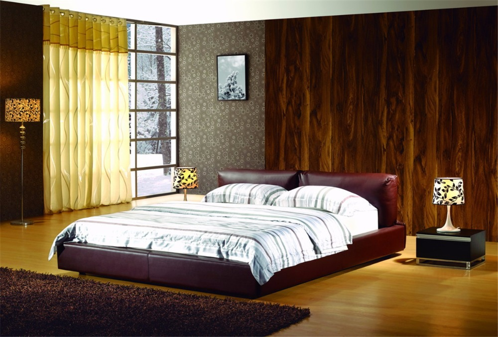 Modern Leather Bed, Leather Upholstered Bed supplier(China (Mainland))