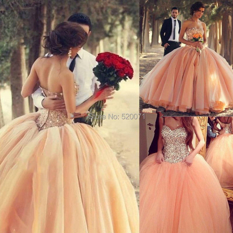 2015 romantic ball gown sweetheart off the shoulder white for Big tulle ball gown wedding dress