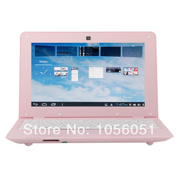 White/Pink and Black 10'' VIA8880 Android 4.2 Dual Core Mini Laptop With High Quality 1GB RAM 4GB HDD CE ROHS(China (Mainland))