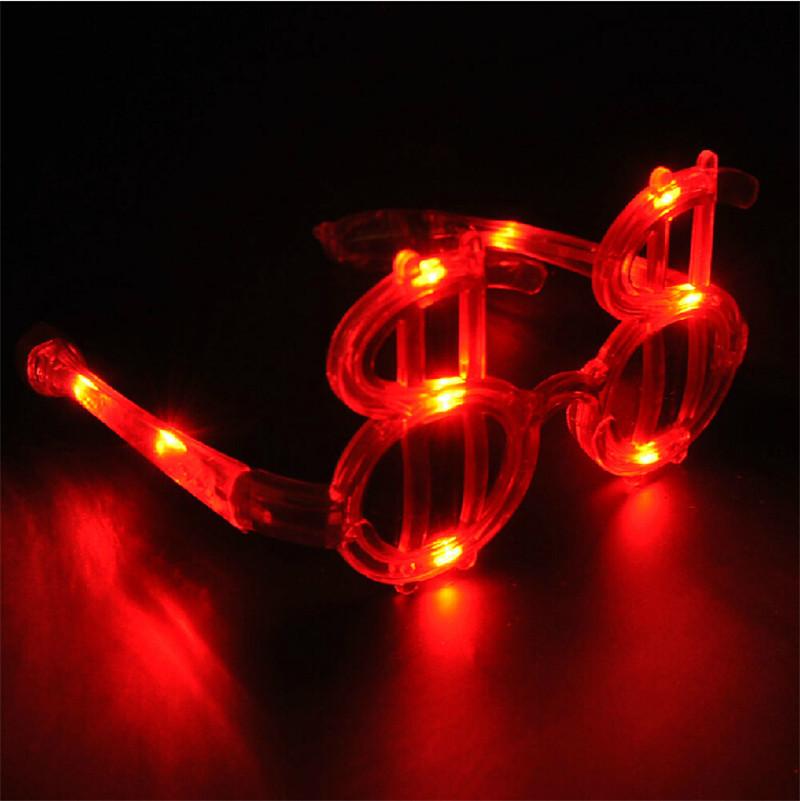 15pcs/lot Novelty Fun LED Flashing dollar Sunglasses Glows party mask Light UP toys Birthday Wedding Halloween decorations Gift(China (Mainland))