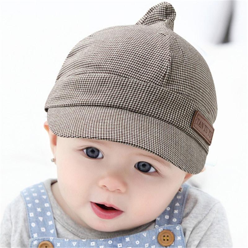 2016 New Baby Beret Hat Cotton Unisex Boy Girl Plaid Caps Kids Baseball Cap Baby Boys Sun Hat Newborn Autumn/Winter Accessories()