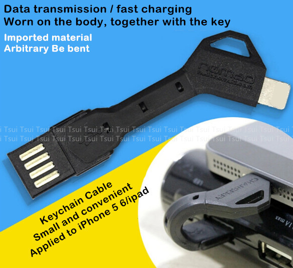 Noodle Flat multi usb charger cell phone chargekey sync keychain cable for iphone 5 charger for iphone 5s 6 4.7 inch 6 plus Hot(China (Mainland))