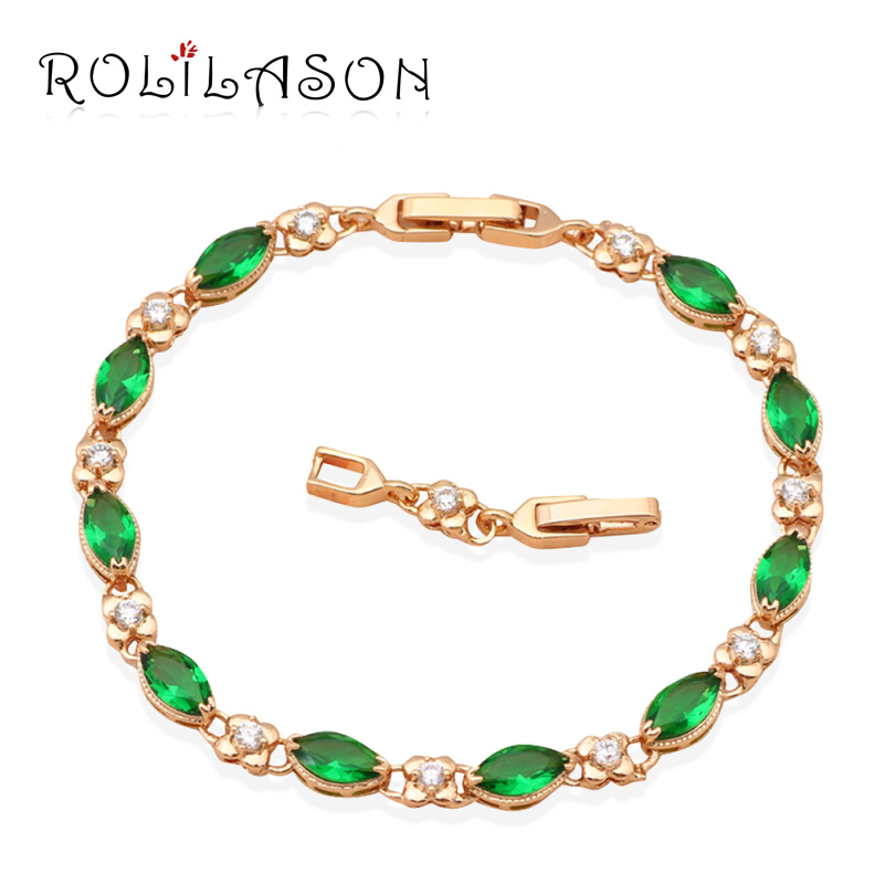 Free shipping Color Crystal &amp; AAA Zircon 18K k Gold Plated Bracelets Health Nickel &amp; Lead free Fashion jewelry TB034<br><br>Aliexpress