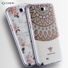 3D Relief Frosted PC Hard Back Cover Colorful Case For Samsung Galaxy note 2 N7100 Phone Bag New(China (Mainland))