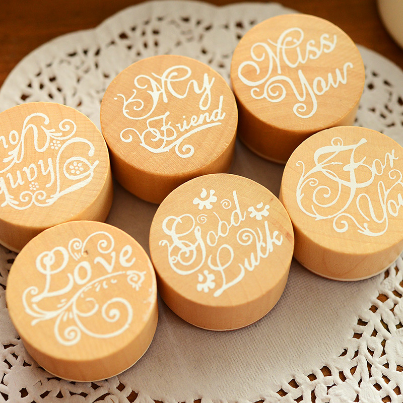 6 styles DIY Scrapbooking Assorted Retro Vintage Floral Flower Pattern Round Wooden Rubber Stamp Scrapbook DIY 1pc(China (Mainland))