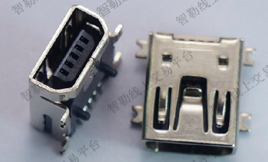 New micro usb jack 5p mini usb connector AB jack Free Shipping(China (Mainland))