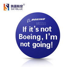 Boeing Poster Round Sticker Water Proof for Car Motorcycle Luggage Bag for Aviation Lover Pilot Flight Crew(China (Mainland))