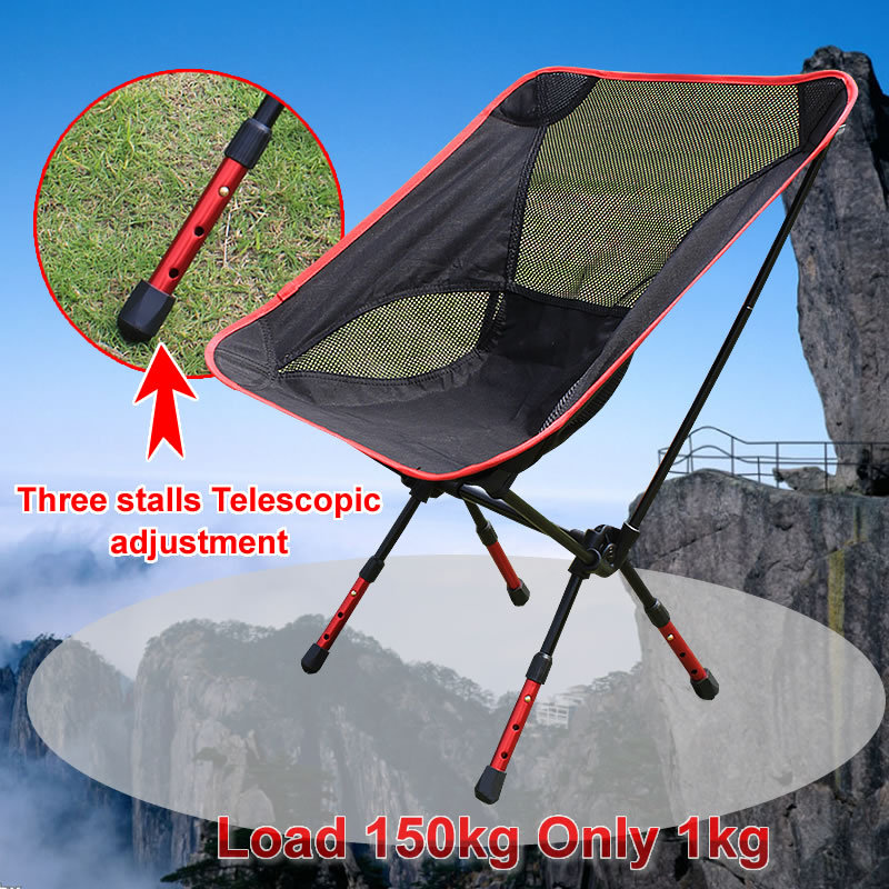 Portable Assembled Chair Folding Ultralight Durable Aluminium Seat Stool Fishing Camping Hiking Gardening Beach Outdoor Red(China (Mainland))