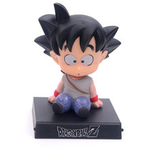 Bobble Cabeça Figura de Ação Dragon Ball Son Goku Kuririn Shake Cabeça Suporte Suporte Do Telefone Decoração Do Carro Modelo Anime PVC Brinquedos presentes(China)