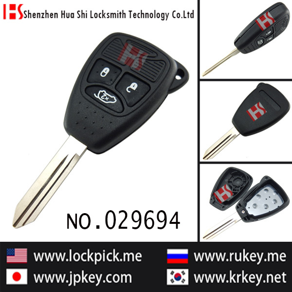 Hot sale car lockpick tool 3 button remote key casing(China (Mainland))