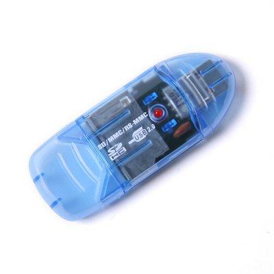 4 in 1 Mini USB 2.0 Memory Card Reader Writer SD Memory Card Reader(China (Mainland))
