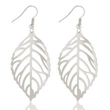 Vintage Leaf Earring Gold Silver Bohemian Big Hollow Drop Earrings Dangle Statement Charm Jewelry For Women Eardrop Jewelry(China (Mainland))
